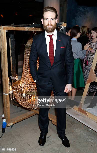 Craig McGinlay attends the Erdem x Selfridges Wrap Party during London Fashion Week Autumn/Winter 2016/17 at on February 22 2016 in London England