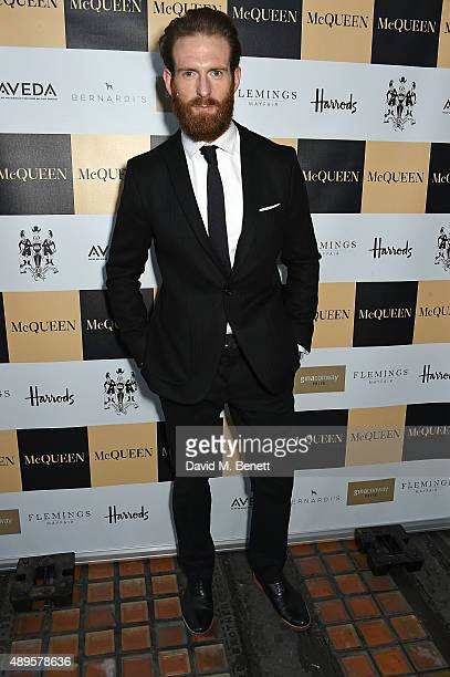 Craig McGinlay attends the exclusive viewing of 'McQueen' hosted by Karim Al Fayed for Lonely Rock Investments during London Fashion Week at Theatre...