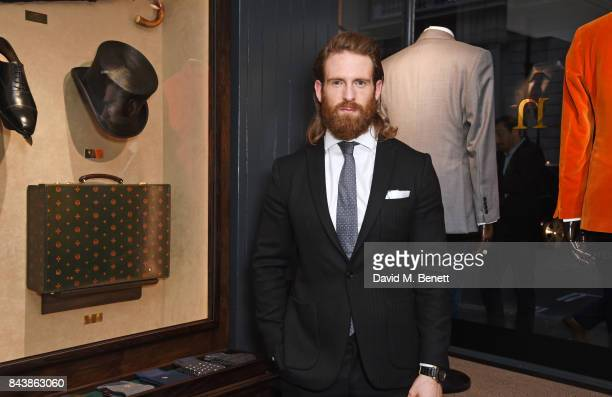 Craig McGinlay attends the launch of the 'Kingsman' shop on St James's Street in partnership with MR PORTER MARV Twentieth Century Fox in celebration...