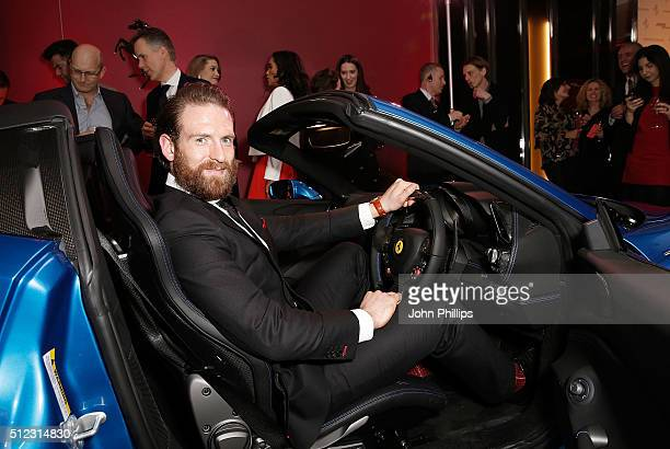 Craig McGinlay attends the UK launch of the Ferrari 488 Spider at Watches of Switzerland on February 25 2016 in London England