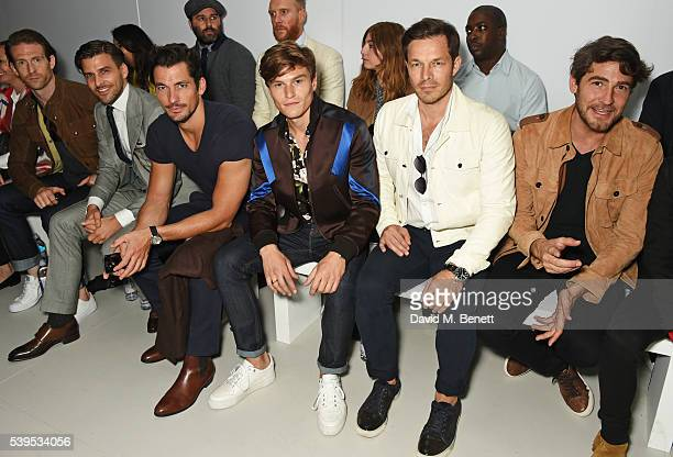 Craig McGinlay Johannes Huebl David Gandy Paul Sculfor and Robert Konjic attend the Christopher Raeburn show during The London Collections Men SS17...