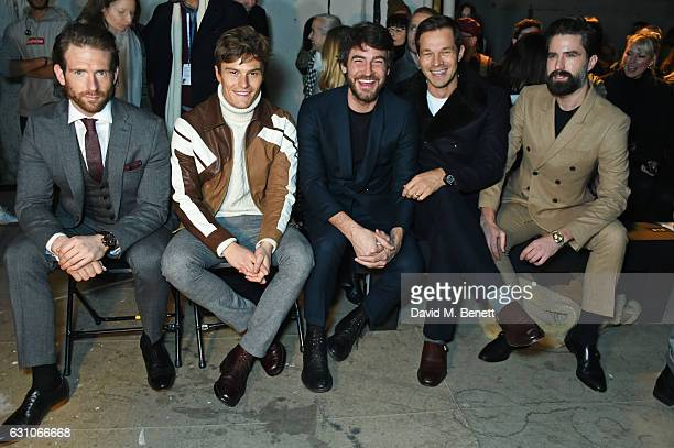 Craig McGinlay Oliver Cheshire Robert Konjic Paul Sculfor and Jack Guinness attend the TOPMAN DESIGN show during London Fashion Week Men's January...