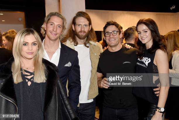Craig McGinlay with Max Evans Lauren Jamieson and guests attend the private launch event for luxury eyewear brand FINLAY London's first Soho store on...