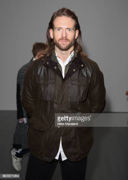 Craig McGinley attends the Christopher Raeburn Show during London Fashion Week Men's January 2018 at on January 7 2018 in London England