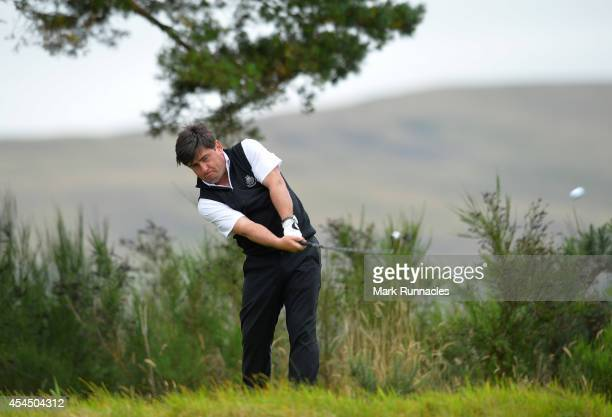Craig McKinley of Panmure Golf Club on the 16th tee during the first round of the Lombard Trophy Grand Final at Gleneagles on September 2 2014 in...