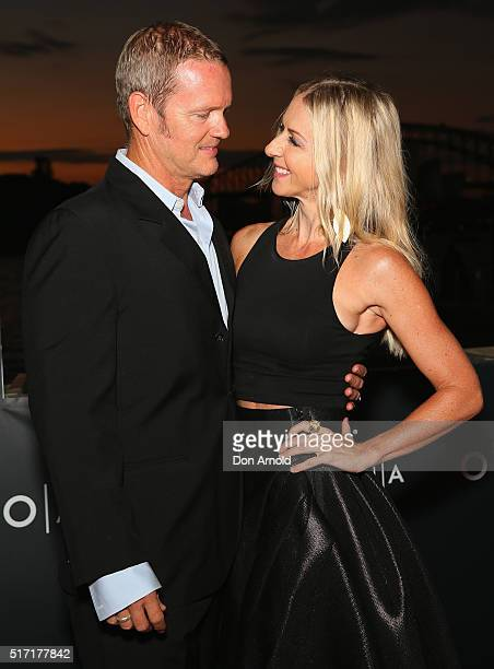 Craig McLachlan and Vanessa Scammell arrive ahead of opening night of Handa Opera's Turandot on March 24 2016 in Sydney Australia