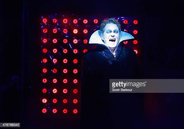 Craig McLachlan as Frank N Furter performs during a Rocky Horror Show Media Call at the Comedy Theatre on June 12 2015 in Melbourne Australia