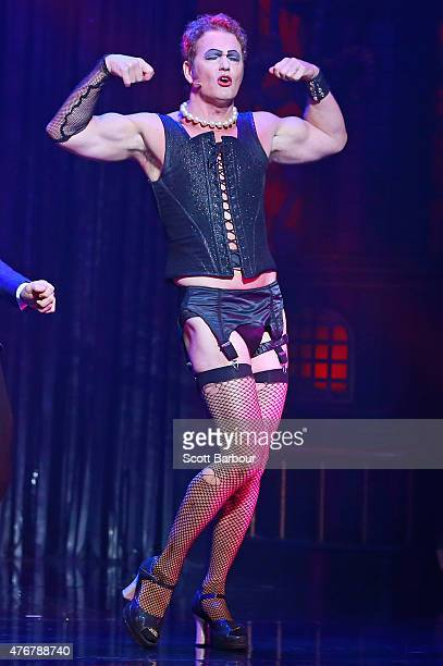 Craig McLachlan as Frank N Furter performs during a 'Rocky Horror Show' Media Call at the Comedy Theatre on June 12 2015 in Melbourne Australia