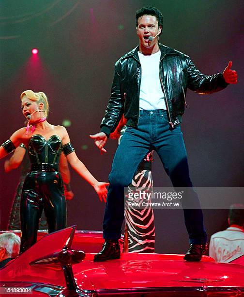 Craig McLachlan during rehearsals for the stage production of 'Happy Days The Arena Mega Musical' at the Sydney SuperDome on October 15 1999 in...