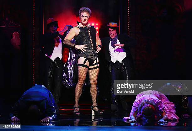 Craig McLachlan plays the role of Frank N Furter during a media call for The Rocky Horror Show at The Star on April 15 2015 in Sydney Australia