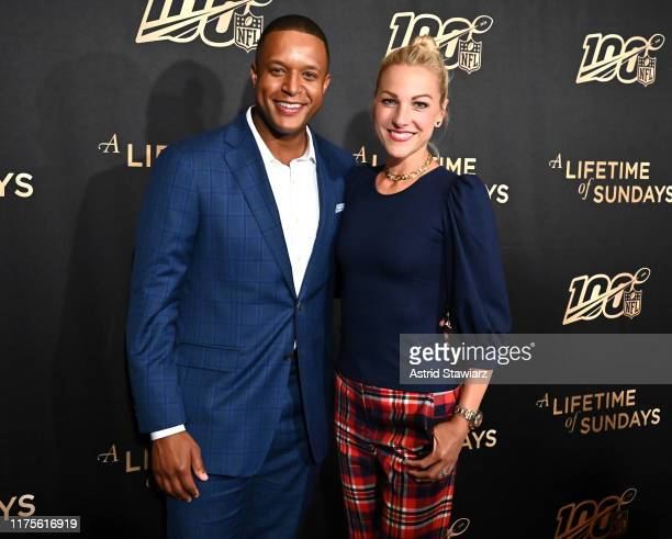 Craig Melvin and Lindsay Czarniak attend A Lifetime Of Sundays New York Screening at The Paley Center for Media on September 18 2019 in New York City