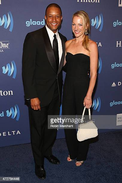 Craig Melvin and Lindsay Czarniak attend the 26th Annual GLAAD Media Awards at The Waldorf Astoria on May 9 2015 in New York City