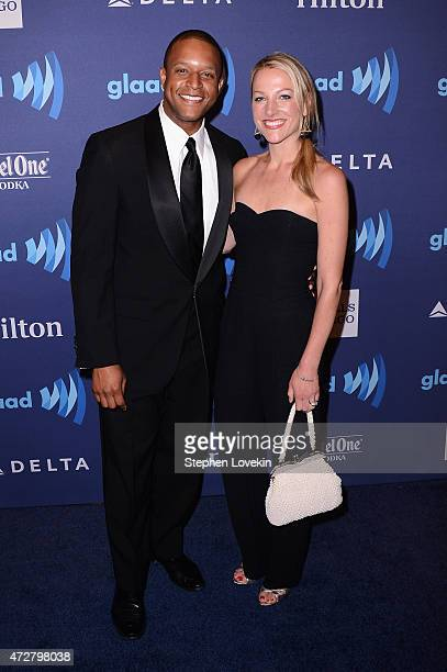 Craig Melvin and Lindsay Czarniak attend the 26th Annual GLAAD Media Awards In New York on May 9 2015 in New York City