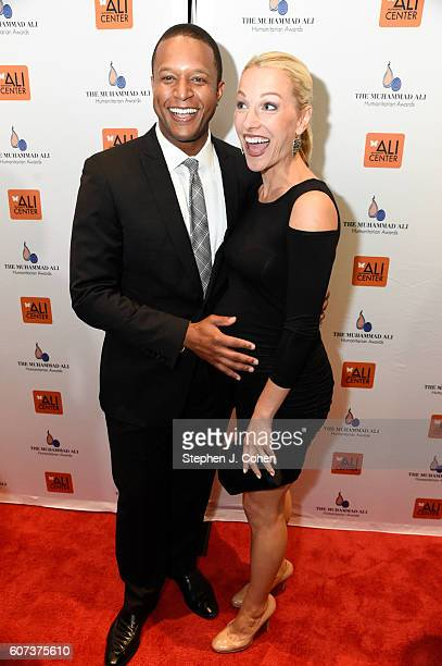 Craig Melvin and Lindsay Czarniak attends the 2016 Muhammad Ali Humanitarian Awards at Marriott Louisville Downtown on September 17 2016 in...