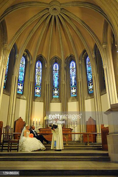 Craig Melvin and Lindsay Czarniak get married at the Church of the Holy City on October 15 2011 in Washington DC