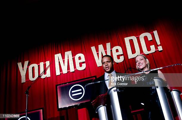 Craig Melvin and Lindsay Czarniak speak during the 39th annual Whitney M Young Jr Memorial Gala presented by the Greater Washington Urban League at...