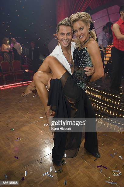 Craig Monley and Natalie Lowe at the grand final event for Dancing With The Stars 2008 at the Channel Seven studios on November 8 2008 in Melbourne...