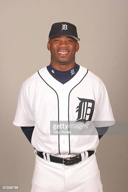 Craig Monroe of the Detroit Tigers during photo day at Marchant Stadium on February 26 2006 in Lakeland Florida