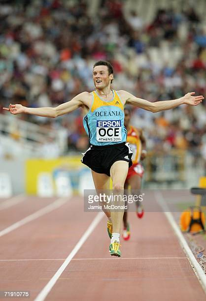 Craig Mottram of Australia celebrates winning the 3000m event during the 10th IAAF World Cup in Athletics on September 17 2006 at the Olympic Stadium...