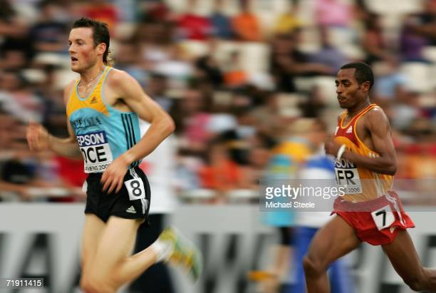 Craig Mottram of Australia leads Kenenisa Bekele of Ethiopia during the 3000m event during the 10th IAAF World Cup in Athletics on September 17 2006...