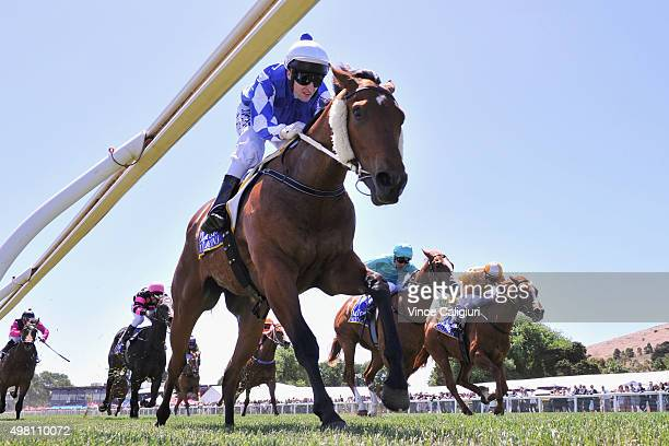 Craig Newitt riding Claro El Banco wins Race 5, the Magic Millions 2yo Clockwise Classic during Melbourne Racing at Ballarat racing Club on November...