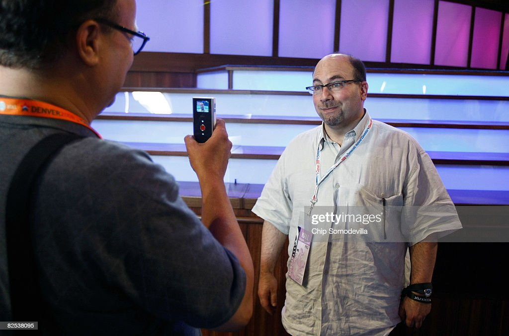 Craig Newmark (R), founder of Craigslist, is interviewed by Michael J. Smith of AmericaFree.tv during the run-up to the 2008 Democratic National Convention at the Pepsi Center August 24, 2008 in Denver, Colorado. The DNC begins August 25 where U.S. Sen. Barack Obama (D-IL) will be officially nominated as the Democratic nominee for the President of the United States.