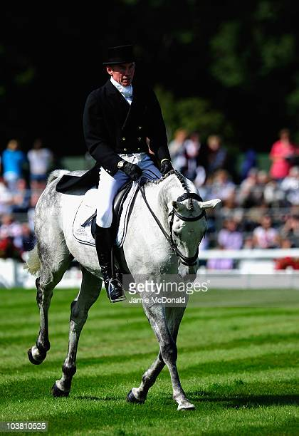 Craig Nicolia of NewZealand rides Just Ironic during the Dressage event on Day Two of the Burghley Horse Trials on September 3 2010 in Stamford...
