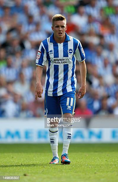 Craig Noone of Brighton Hove Albion in action during the pre season friendly match between Brighton Hove Albion and Chelsea at the Amex Stadium on...