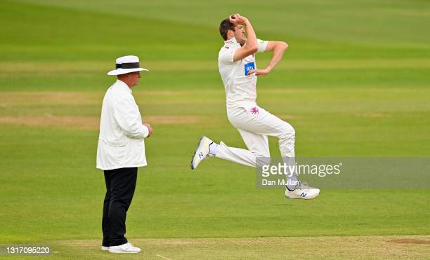 Craig Overton of Somerset bowls during day four of the LV= Insurance County Championship match between Hampshire and Somerset at Ageas Bowl on May...