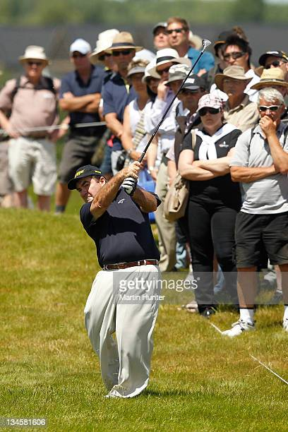Craig Pary of Australia is caught in the rough during day three of the New Zealand Open at Clearwater Golf Course on December 3, 2011 in...