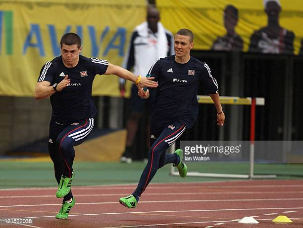 Craig Pickering of Great Britain and Northern Ireland trains at the Ulsan Sports Complex during the Aviva GBNI Team Preparation Camp on August 20...