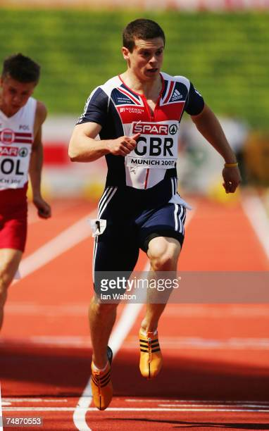 Craig Pickering of Great Britain on his way to winning the Men's 100m during the Spar European Cup event held at the Olympic Stadium on June 23 2007...