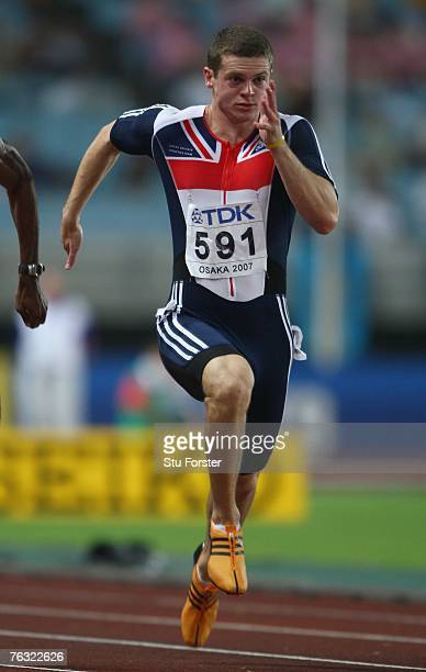 Craig Pickering of Great Britain wins his Men's 100m quarter final on day one of the 11th IAAF World Athletics Championships on August 25 2007 at the...