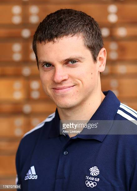 Craig Pickering of the British Winter Olympic Bobsleigh Team poses for a portrait during the Team GB Winter Olympic Media Summit at Bath University...
