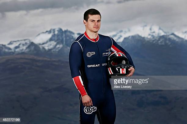 Craig Pickering of the Great Britain GBR1 bobsleigh team poses for a portrait as he prepares for the Winter Olympics in Sochi Russia Photographed on...