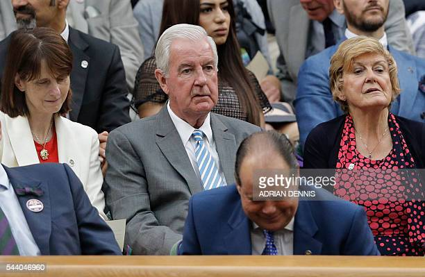 Craig Reedie President of the World AntiDoping Agency looks on from the Royal box on centre court on the fifth day of the 2016 Wimbledon...