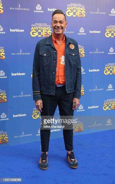 Craig Revel Horwood attends the press night of 'Anything Goes' at Barbican Theatre on August 04, 2021 in London, England.