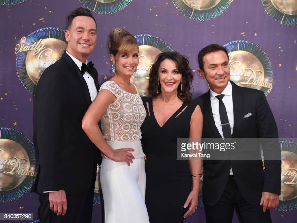 Craig Revel Horwood Darcey Bussell Shirley Ballas and Bruno Tonioli attend the 'Strictly Come Dancing 2017' red carpet launch at Broadcasting House...