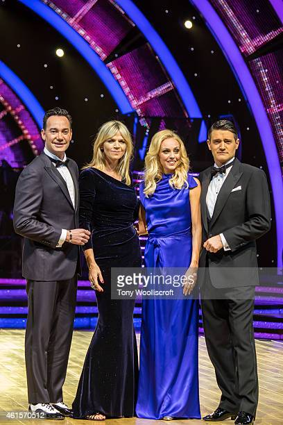 Craig Revel Horwood, Zoe Ball and Camilla Dallerup and Tom Chambers attend a photocall to launch the Strictly Come Dancing Live Tour 2015 at...