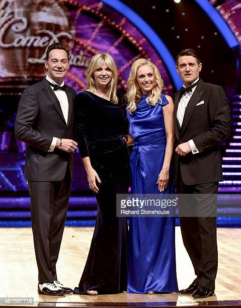 Craig Revel Horwood, Zoe Ball, Camilla Dallerup & Tom Chambers attend a photocall to launch the Strictly Come Dancing Live Tour 2015 at Birmingham...