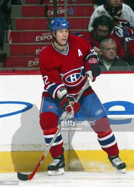 Craig Rivet of the Montreal Canadiens skates against the Tampa Bay Lightning during their NHL game at Bell Centre on January 2 2007 in Montreal...