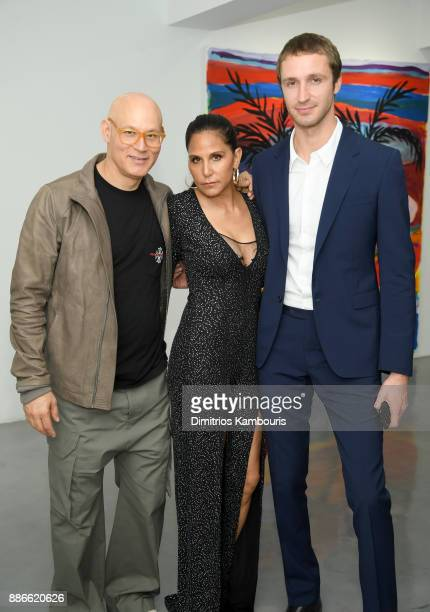 Craig Robbins Laurie Lynn Stark and Theo Niarchos attend the opening of the new Chrome Hearts Gallery Cafe to celebrate their 3Year Anniversary in...