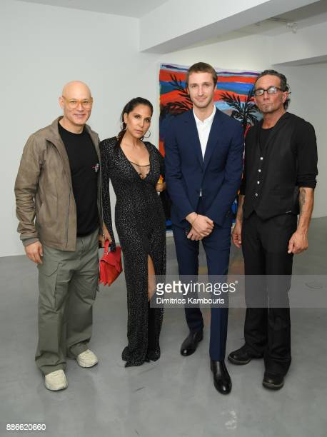 Craig Robbins Laurie Lynn Stark Theo Niarchos and Richard Stark attend the opening of the new Chrome Hearts Gallery Cafe to celebrate their 3Year...