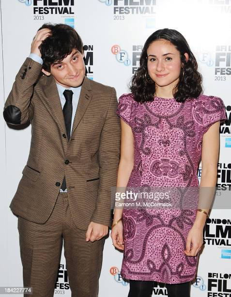 Craig Robert and Yasmin Paige attend a screening of 'The Double' during the 57th BFI London Film Festival at Odeon West End on October 12 2013 in...