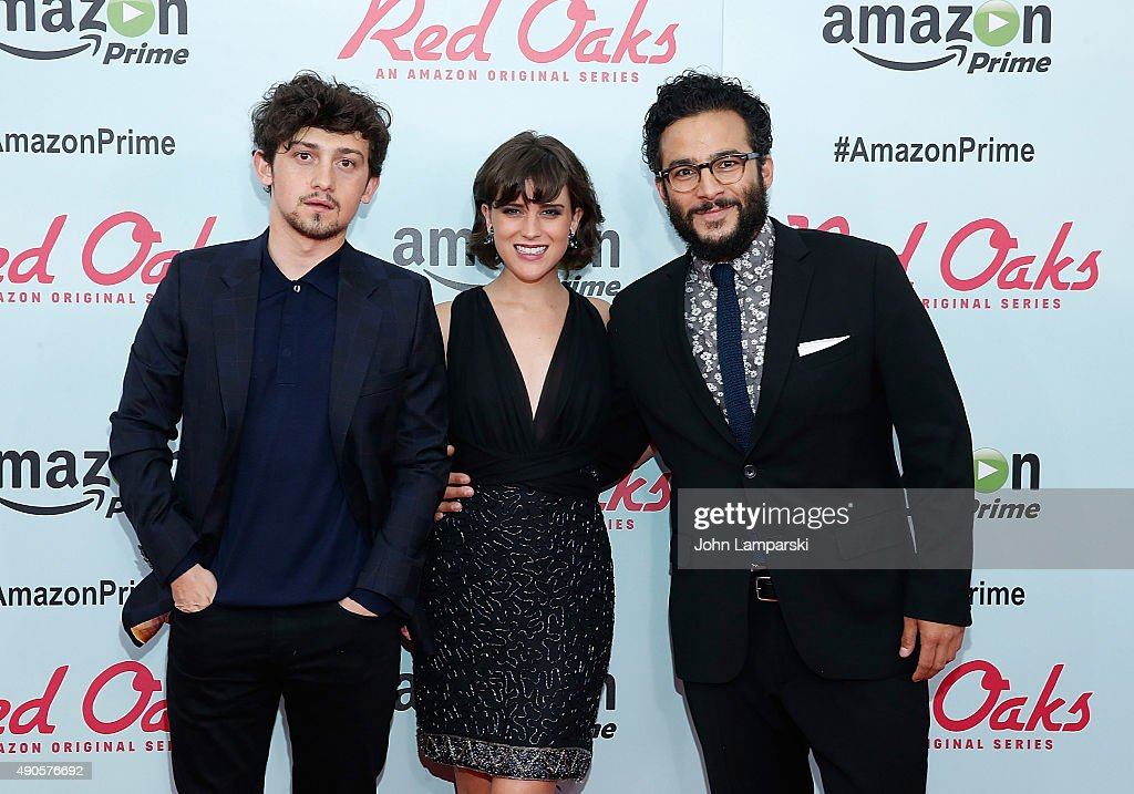 Craig Roberts, Alexandra Socha and Ennis Esmer attend 'Red Oaks' series premiere at Ziegfeld Theater on September 29, 2015 in New York City.