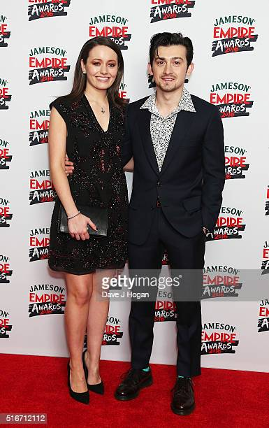 Craig Roberts and a guest attend the Jameson Empire Awards 2016 at The Grosvenor House Hotel on March 20 2016 in London England