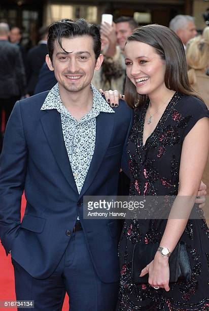 Craig Roberts and guest attends the Jameson Empire Awards 2016 at The Grosvenor House Hotel on March 20 2016 in London England