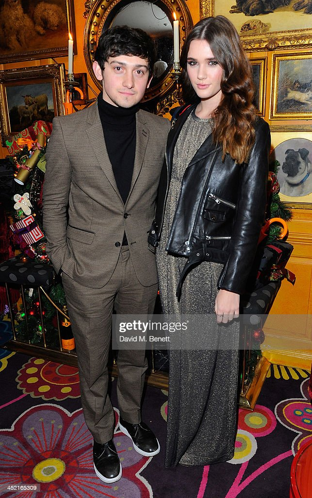 Craig Roberts and Sai Bennett attend Veuve Clicquot Style Party at Annabel's on November 26, 2013 in London, England.