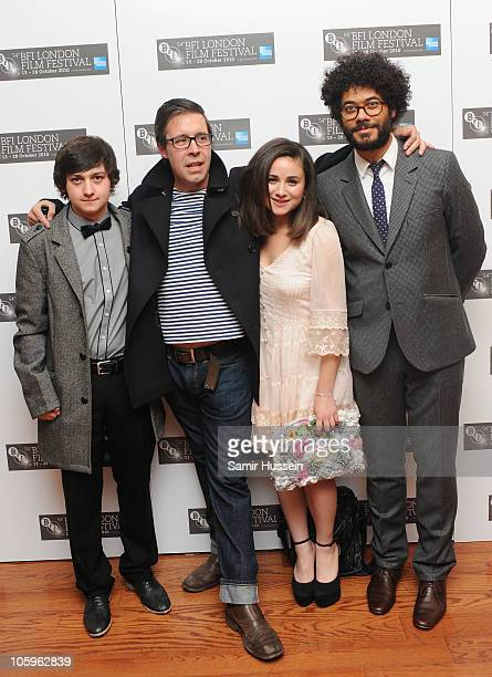 Craig Roberts Paddy Considine Yasmin Paige and Director Richard Ayoade attend the 'Submarine' premiere during the 54th BFI London Film Festival at...