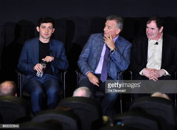 Craig Roberts Paul Reiser and Richard Kind speak at the Tribeca TV Festival season premiere of Red Oaks at Cinepolis Chelsea on September 24 2017 in...